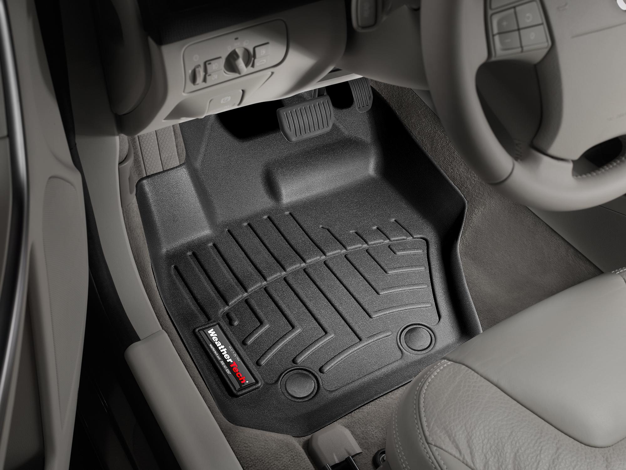 Tappeti gomma su misura bordo alto Volvo XC60 08>17 Nero A4423*