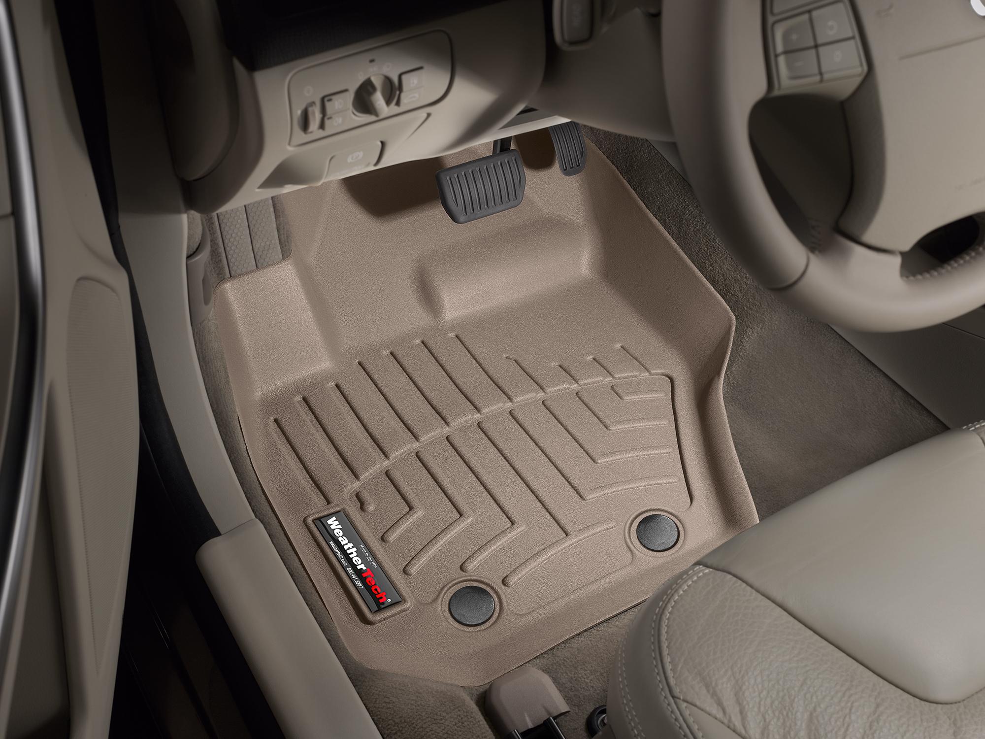 Tappeti gomma su misura bordo alto Volvo XC60 08>17 Marrone A4421*