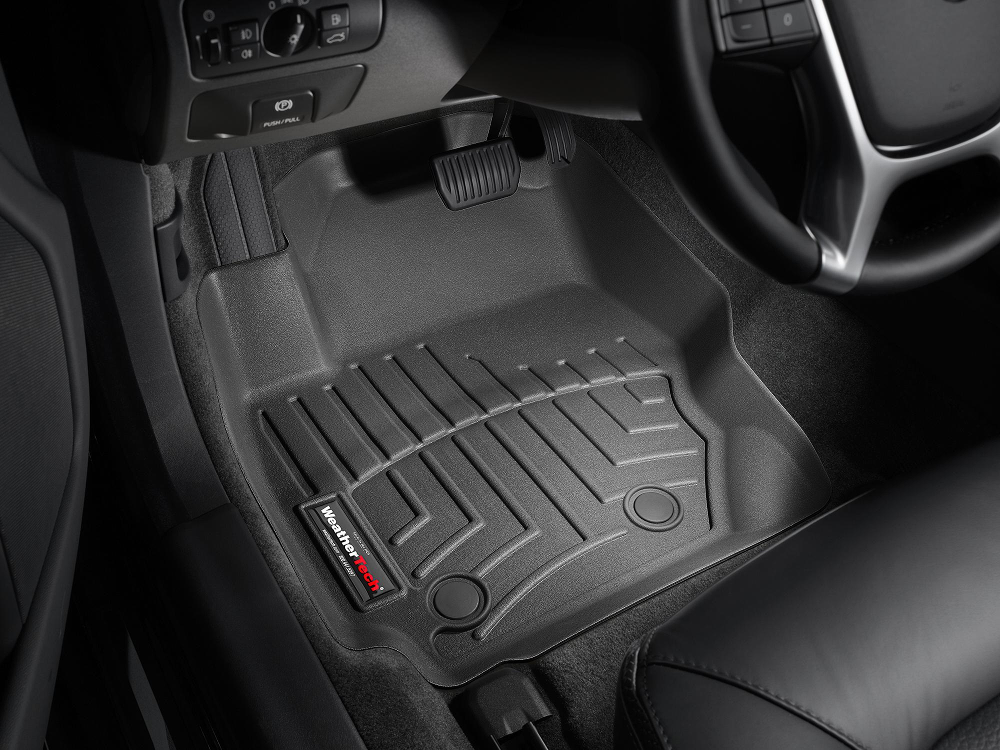 Tappeti gomma su misura bordo alto Volvo V70 08>10 Nero A4412*