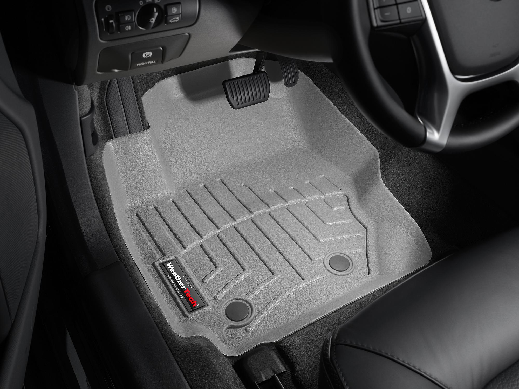 Tappeti gomma su misura bordo alto Volvo V70 08>17 Grigio A4413*