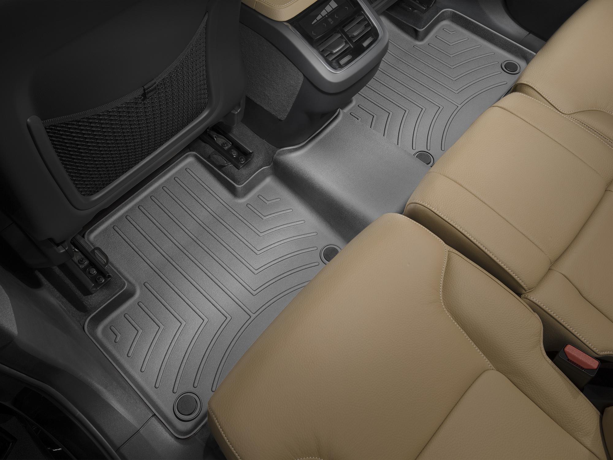 Tappeti gomma su misura bordo alto Volvo XC90 15>17 Nero A4462*