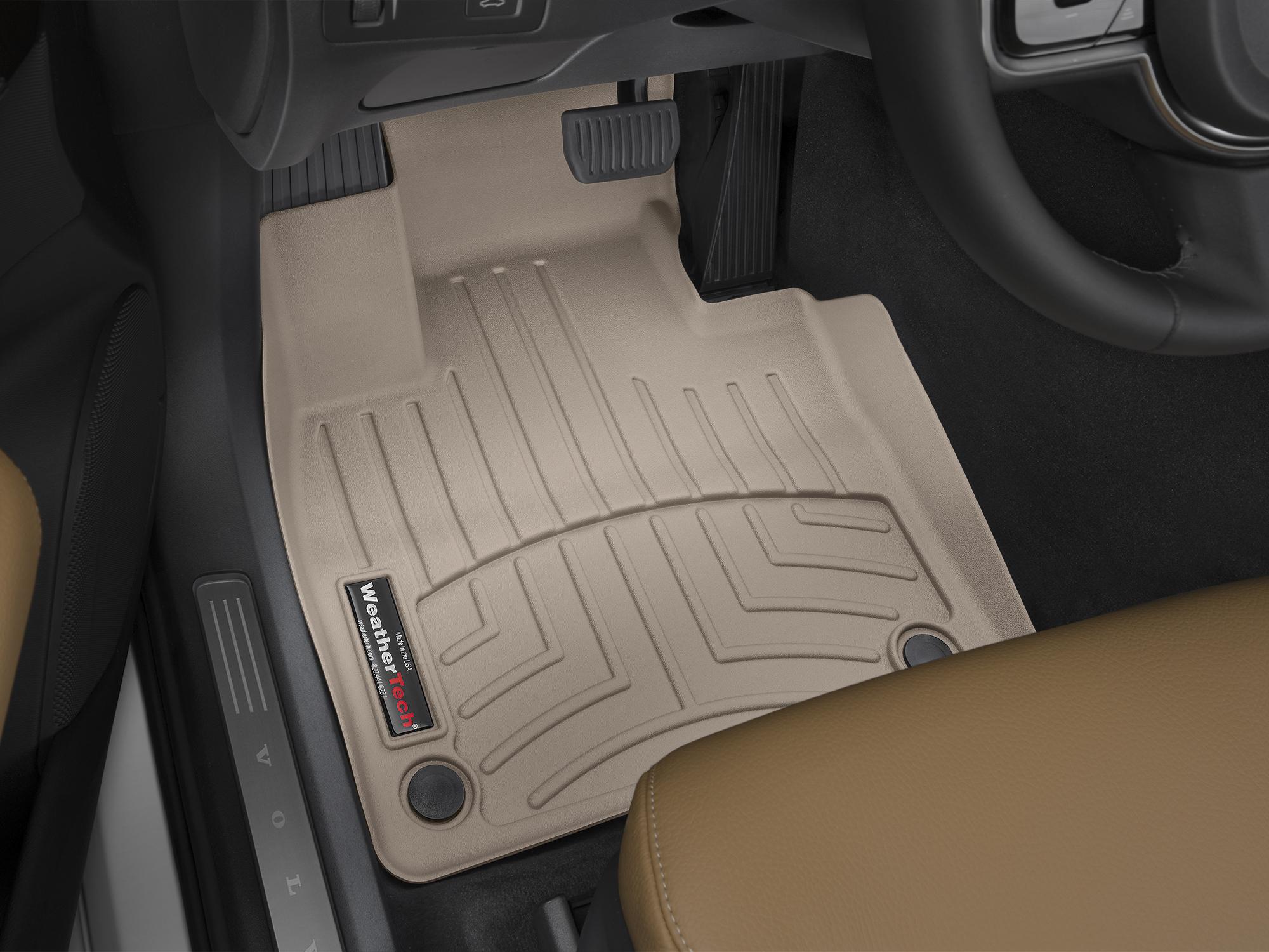 Tappeti gomma su misura bordo alto Volvo XC90 15>17 Marrone A4456*