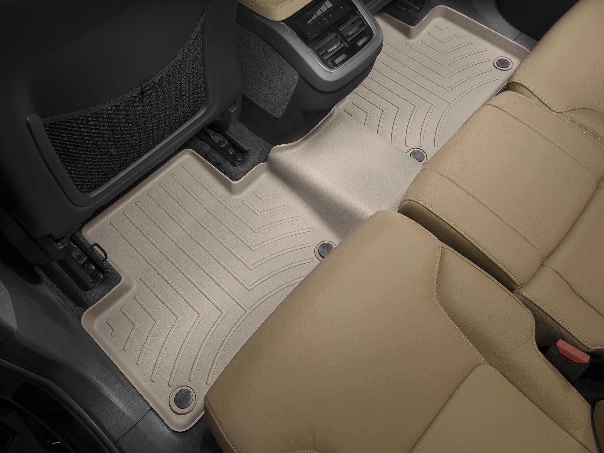 Tappeti gomma su misura bordo alto Volvo XC90 15>17 Marrone A4458*