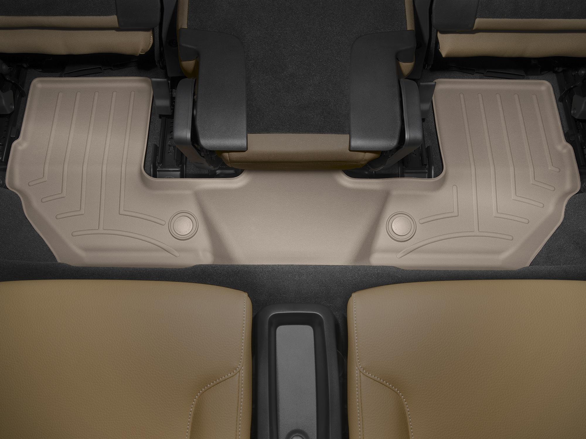Tappeti gomma su misura bordo alto Volvo XC90 15>17 Marrone A4459*
