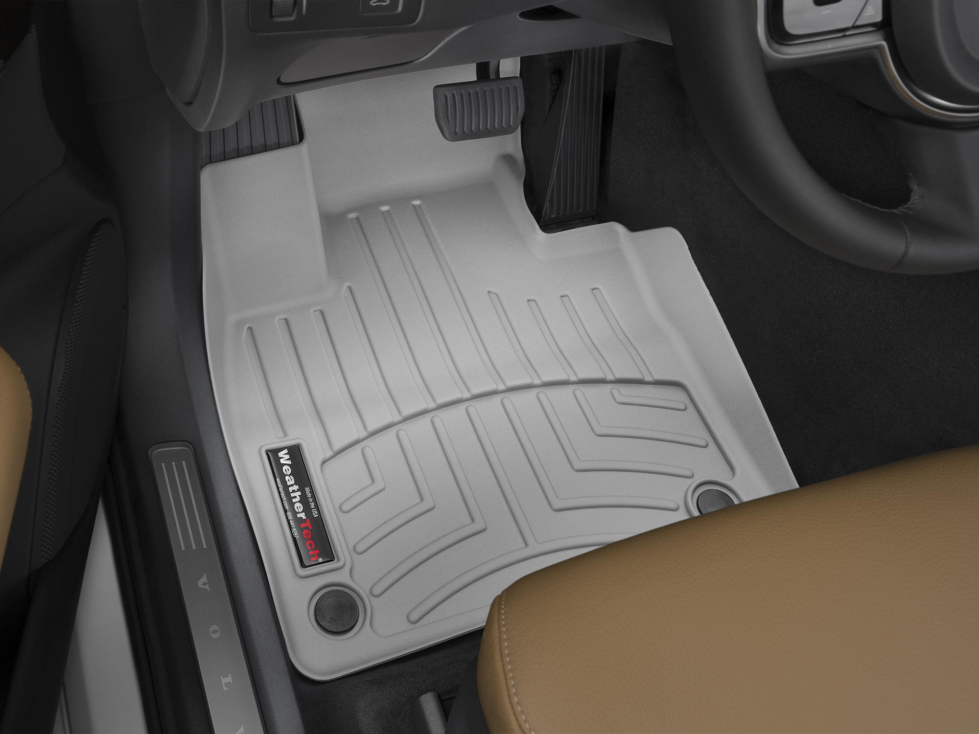 Tappeti gomma su misura bordo alto Volvo XC90 15>17 Grigio A4452*
