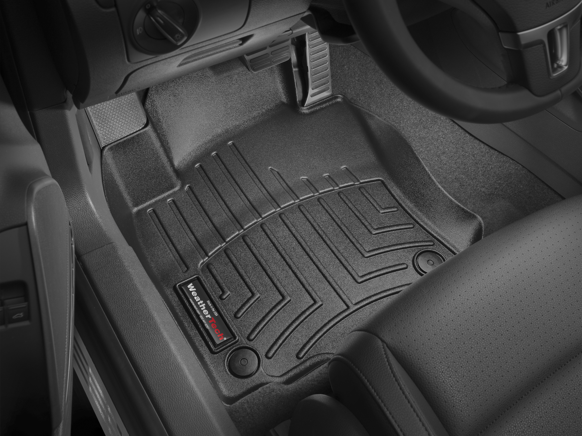 Tappeti gomma su misura bordo alto Volkswagen Golf GT 05>09 Nero A4079*