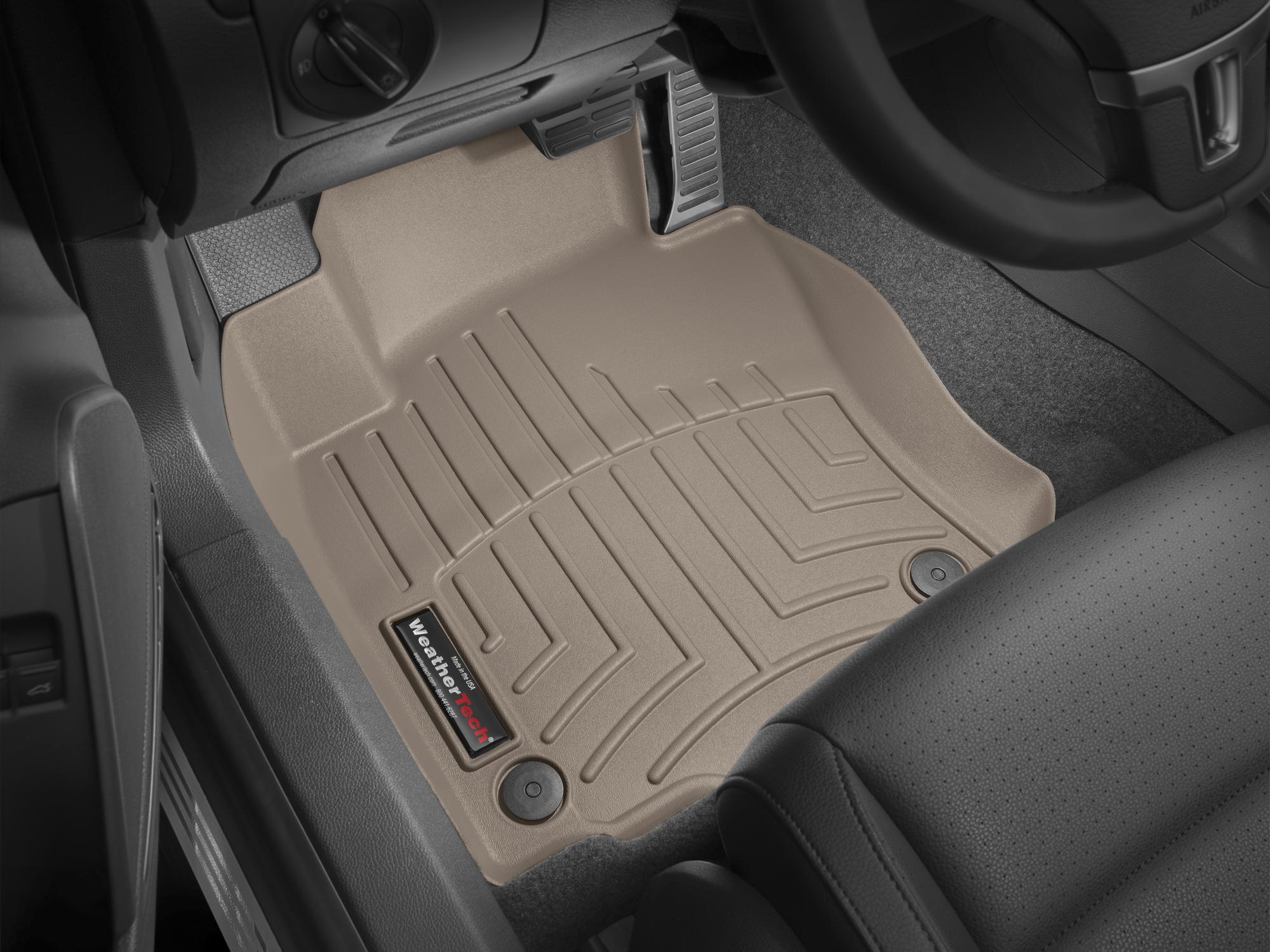 Tappeti gomma su misura bordo alto Volkswagen Golf 12>12 Marrone A4048*