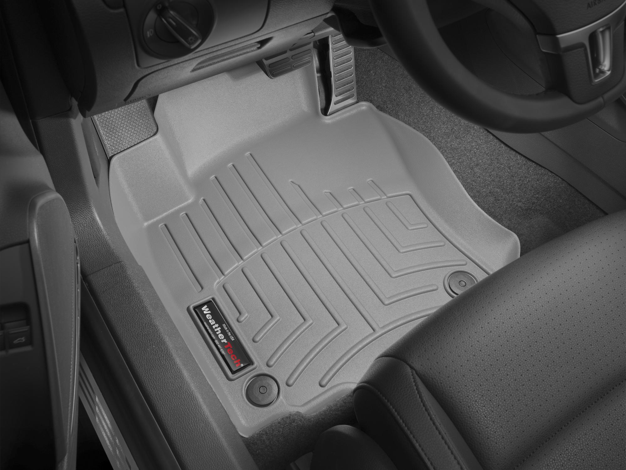 Tappeti gomma su misura bordo alto Volkswagen Golf 04>11 Grigio A4029*