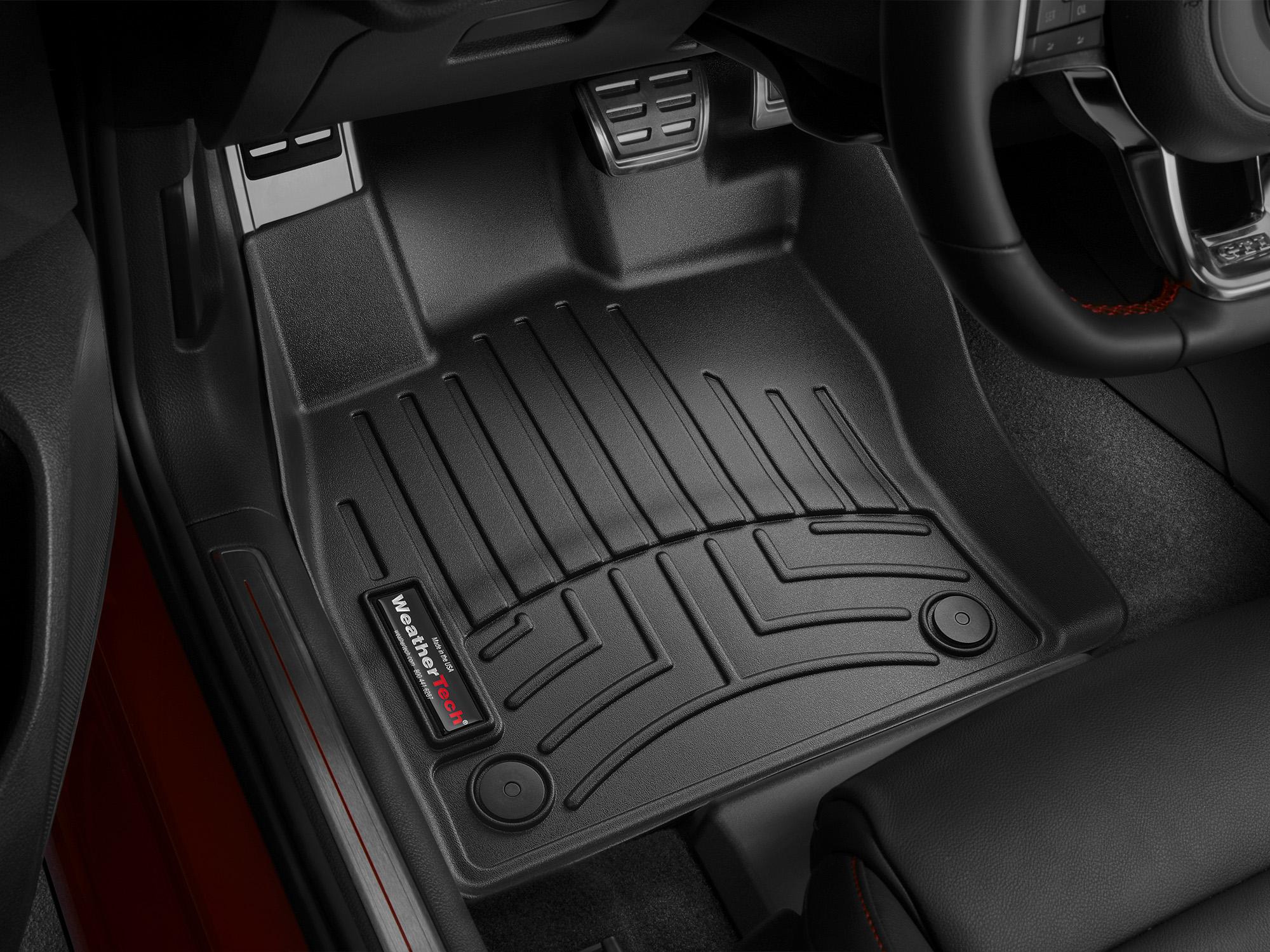 Tappeti gomma su misura bordo alto Volkswagen Golf 12>12 Nero A4052*