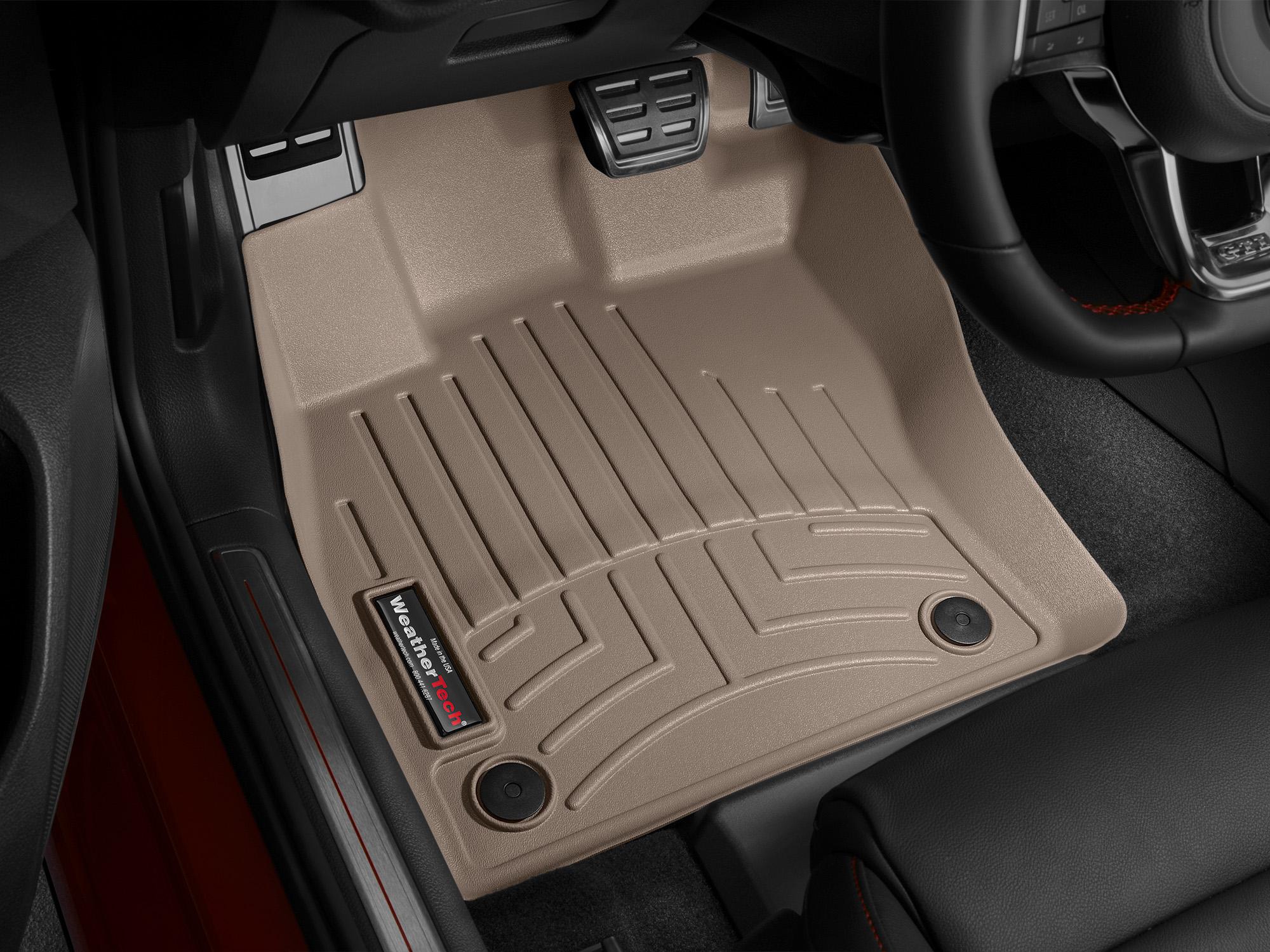 Tappeti gomma su misura bordo alto Volkswagen Golf 12>12 Marrone A4046*