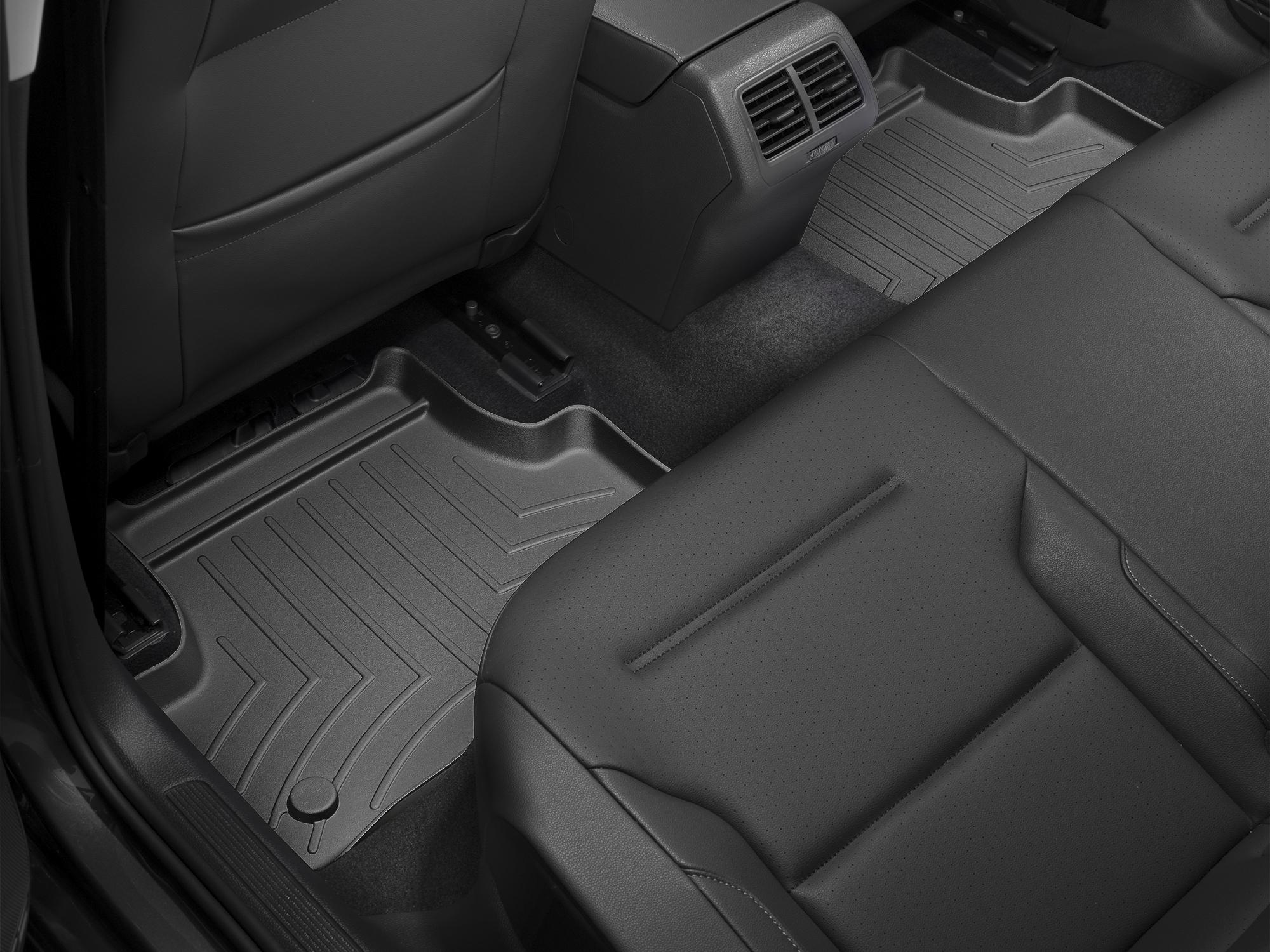 Tappeti gomma su misura bordo alto Volkswagen Golf 12>12 Nero A4056*