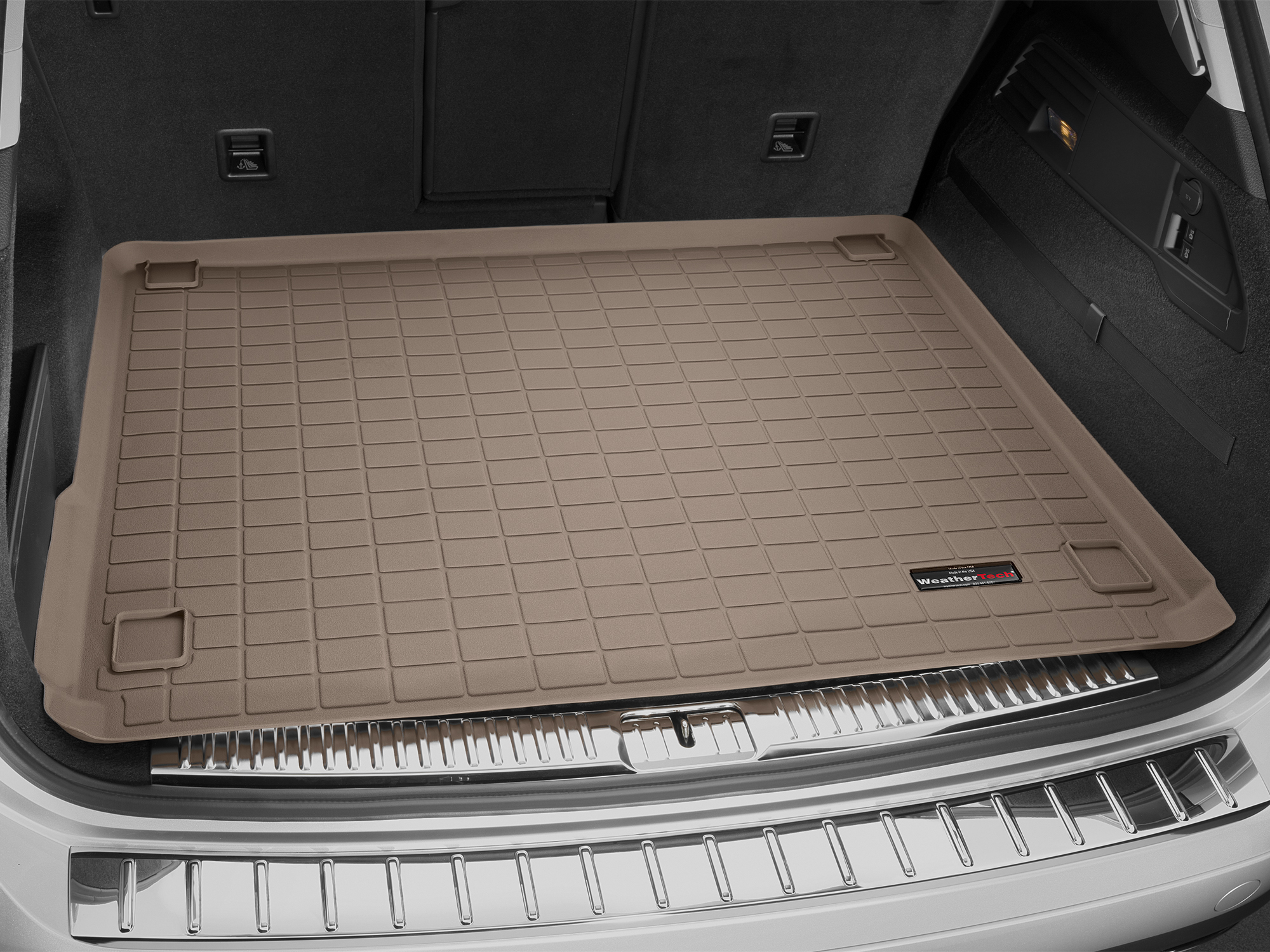 Volkswagen Touareg 2010>2010 Vasca baule tappeto bagagliaio marrone *1432
