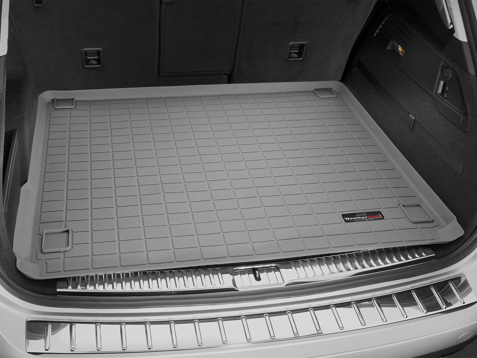 Volkswagen Touareg 2011>2017 Vasca baule tappeto bagagliaio grigio *1435