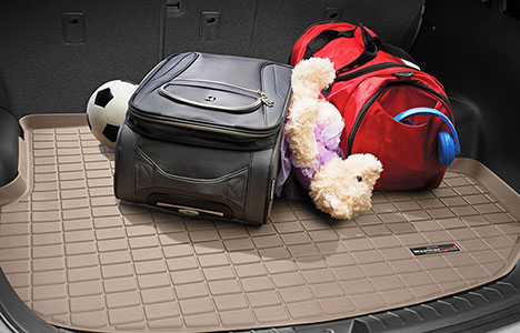 luggage on top of cargo liner