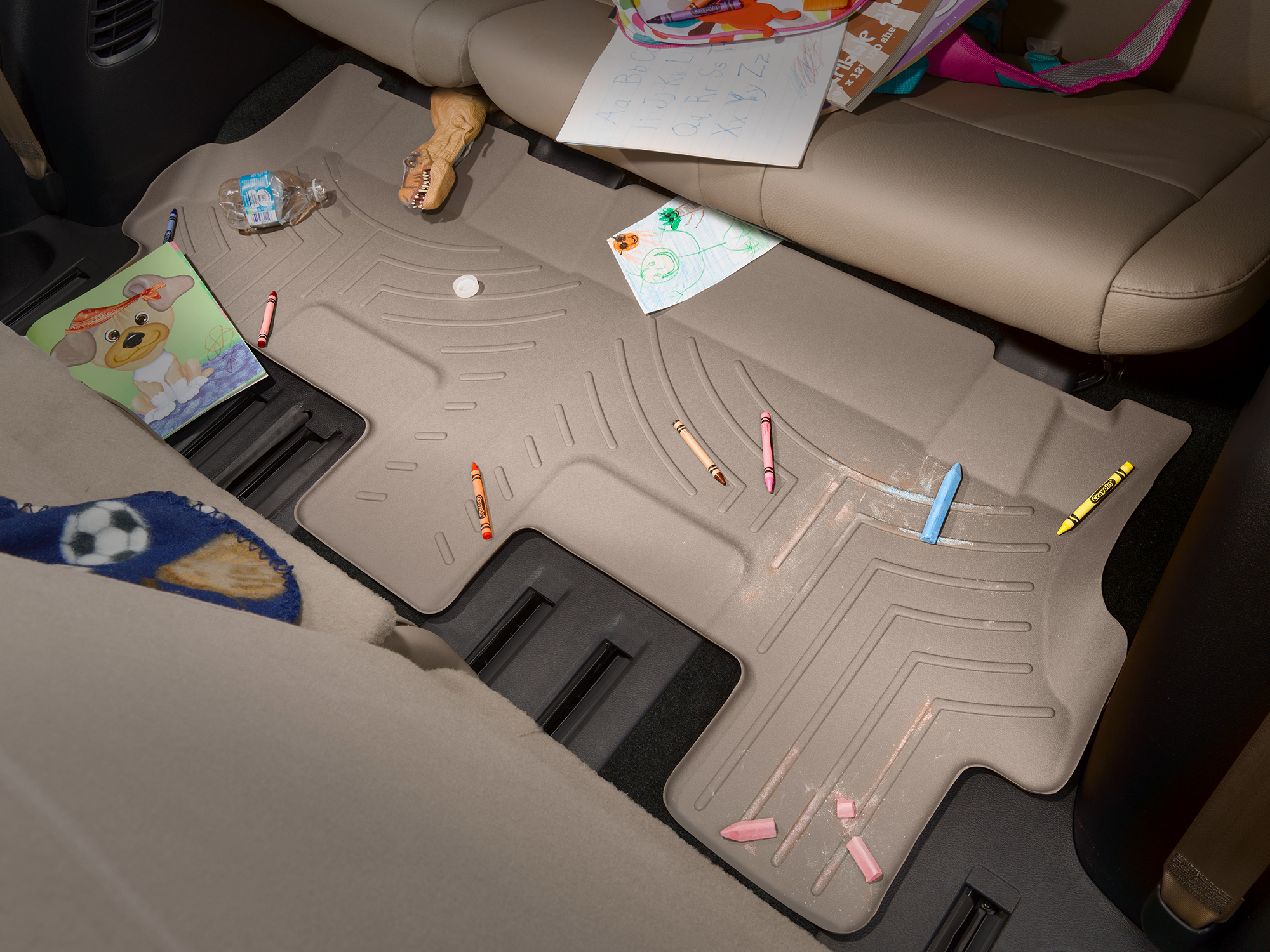 FloorLiner with school supplies