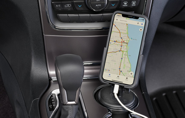 WeatherTech CupFone is a universal cell phone holder that fits conveniently in any size cup holder!