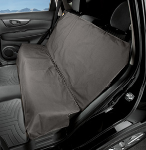 Grey Seat Protector covering the rear seat of an SUV or Truck
