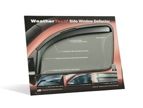 Side Window Deflector Countertop Display