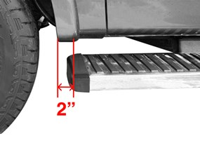 Running Boards Within  Of The Wheel Well