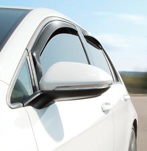 WeatherTech Side Window Deflectors, offer fresh air enjoyment with an original equipment look.