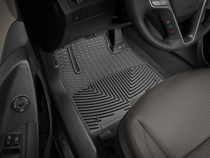 2017 Hyundai Santa Fe All Weather Floor Matsflexible Mats For Your Vehicle Close Shown Detailed Image Of Product