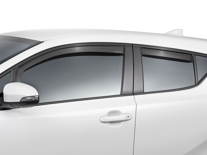 Smoke Black Side Window Weather Deflector 4p for 2017~2020 Toyota C-HR