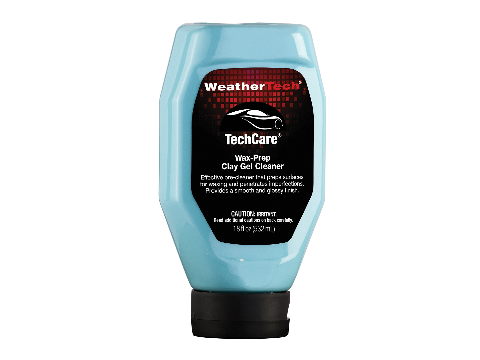 Bottle of TechCare Wax-Prep Clay Gel Cleaner.