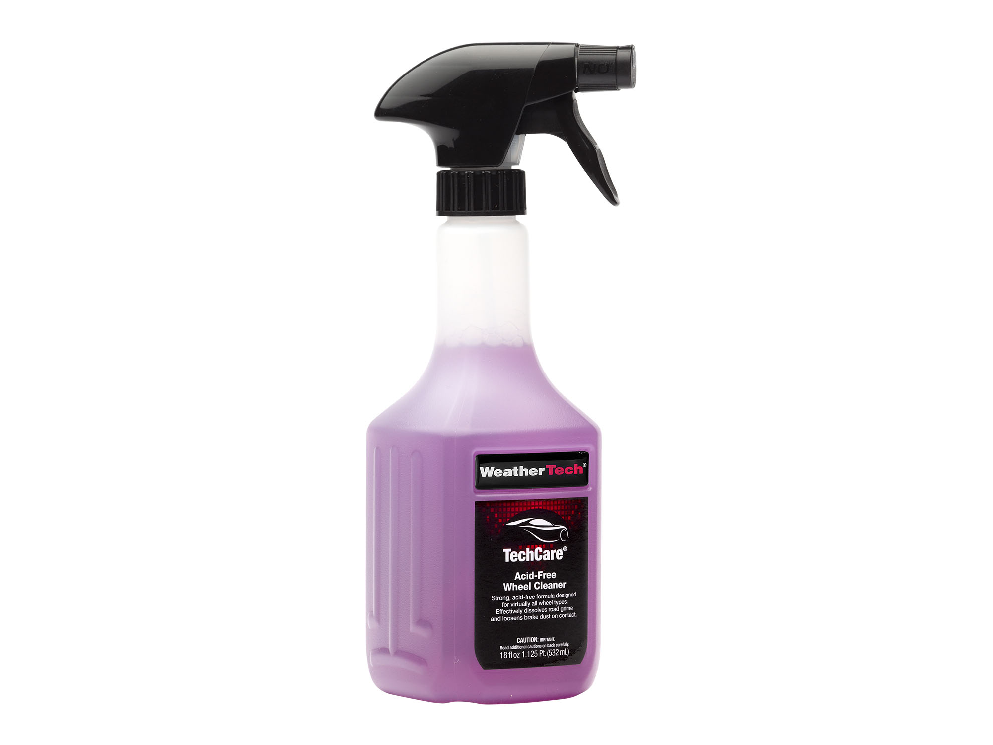 Bottle of TechCare Acid-Free Wheel Cleaner.