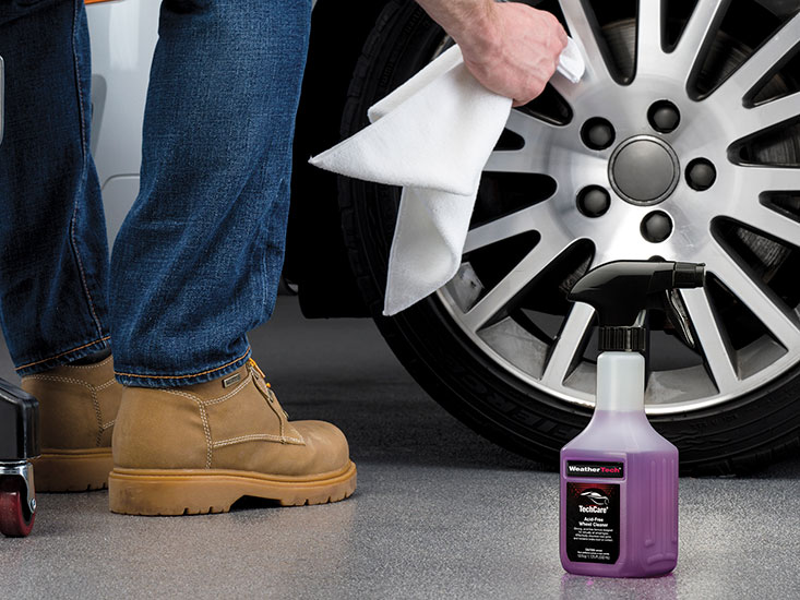 Using a soft micro fiber cloth to dry your wheels will reduce water spots and streaks from forming after they've been washed.