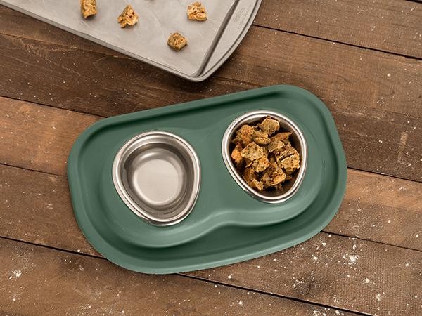 Catnip  Crouton Treats in PetComfort Feeding System