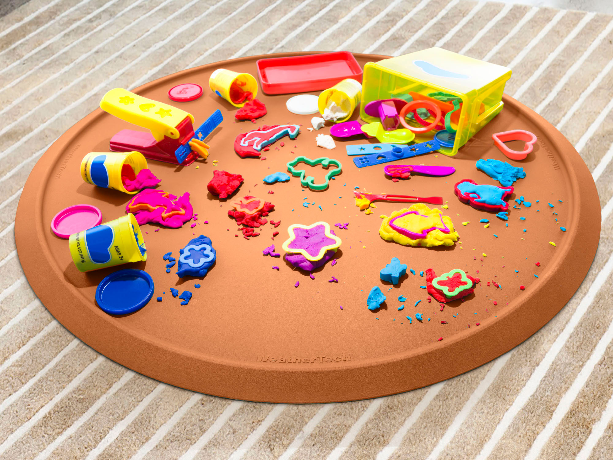 Christmas Tree Mat is a welcome addition to any play area, keeping messes contained and your floors clean.