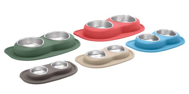 Assortment of sizes and colors of double low feeding systems.