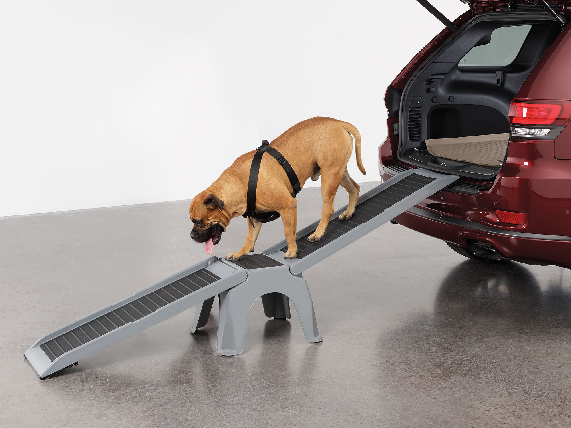 The WeatherTech EasyRamp is the perfect dog ramp for larger vehicles, or higher areas that might normally be out of reach.