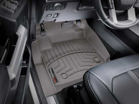 WeatherTech front driver-side FloorLiner provides protection for every season.