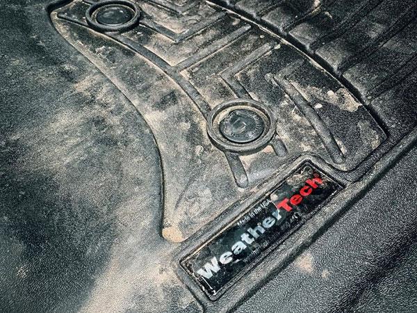 Dirty FloorLiner in vehicle