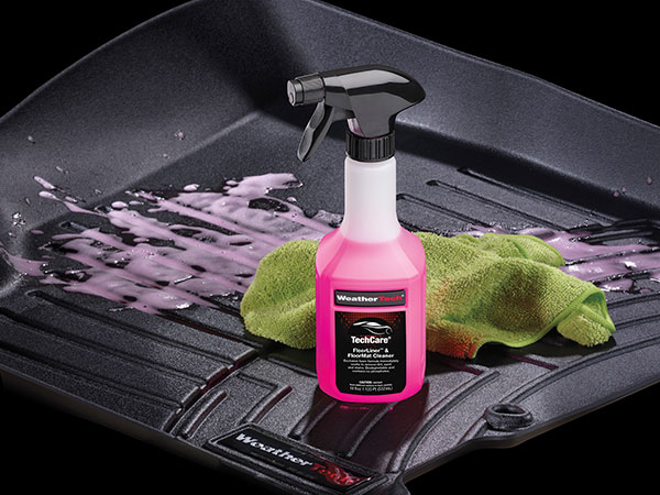 techcare on floorliner with towel