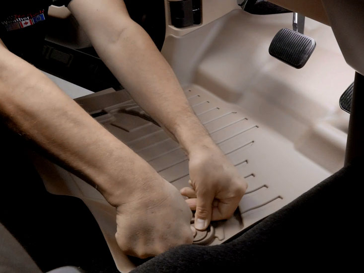 Secure your FloorLiners using the retention devices available in your vehicle.