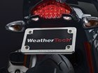 Billet Motorcycle PlateFrame shown on motorcycle. BY WEATHERTECH
