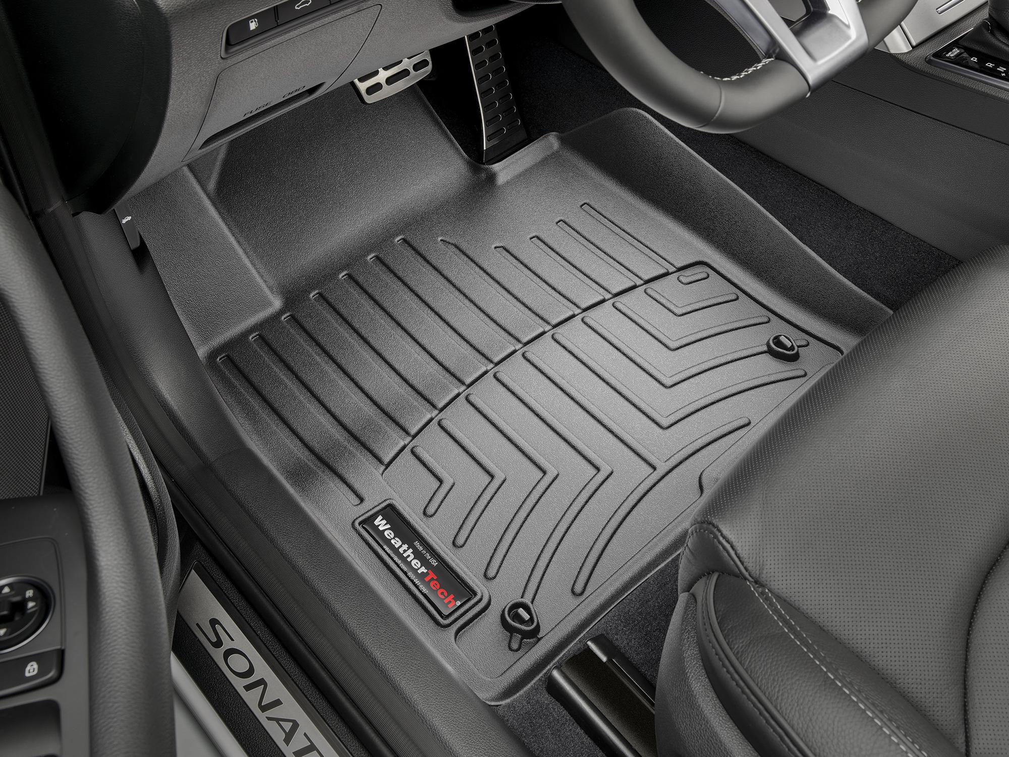 2018 Hyundai Sonata Avm Hd Floor Mats Heavy Duty Flexible Trim To Fit Weathertech