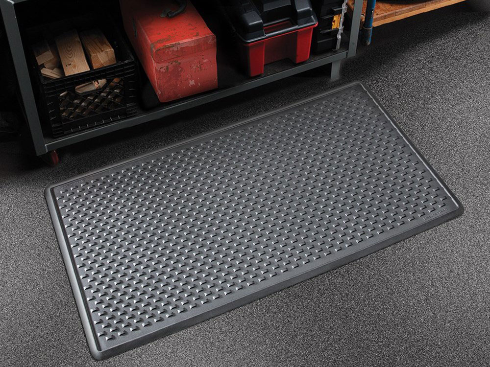 The WeatherTech Indoor Mat is a great addition to any garage. The raised outer edge will ensure no dirt, mud, oil or other mess leaks onto the floor.