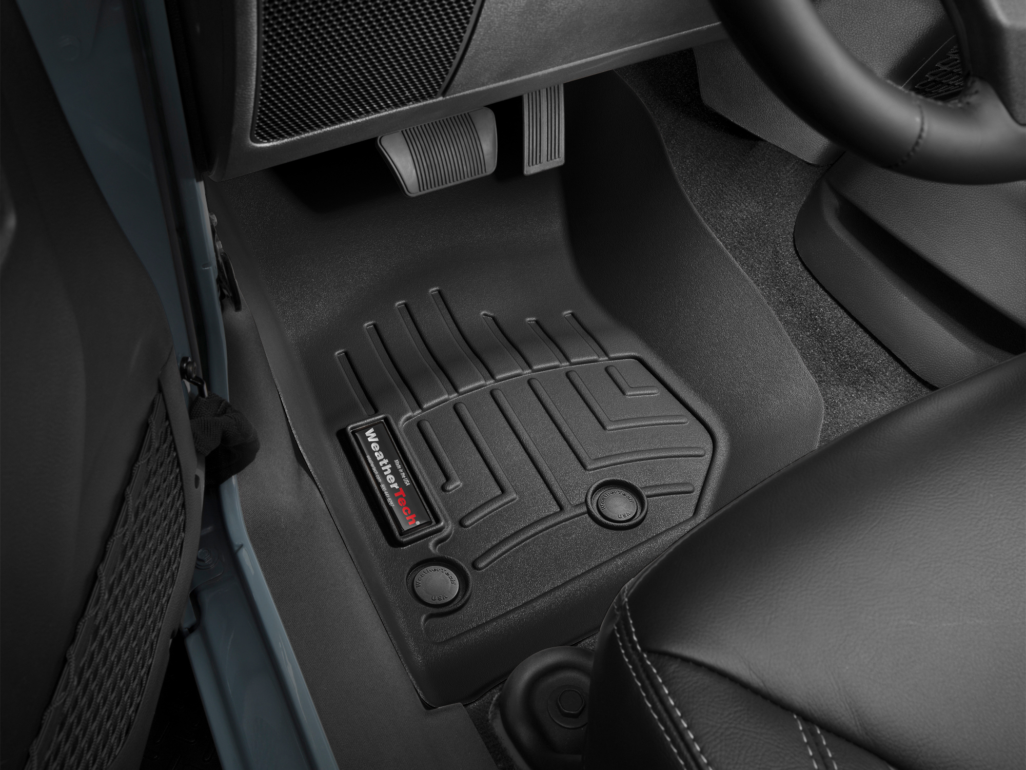 Custom fit Laser Measured FloorLiners are available for the 2016 Jeep Wrangler Unlimited (individual availability is based on your vehicle's options).