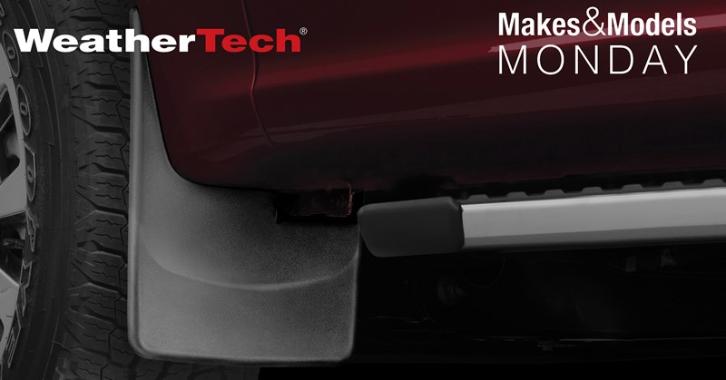 WeatherTech MudFlaps installed on a vehicle.