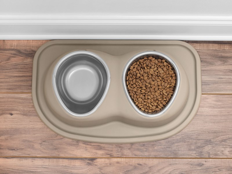 WeatherTech double low pet feeding system.