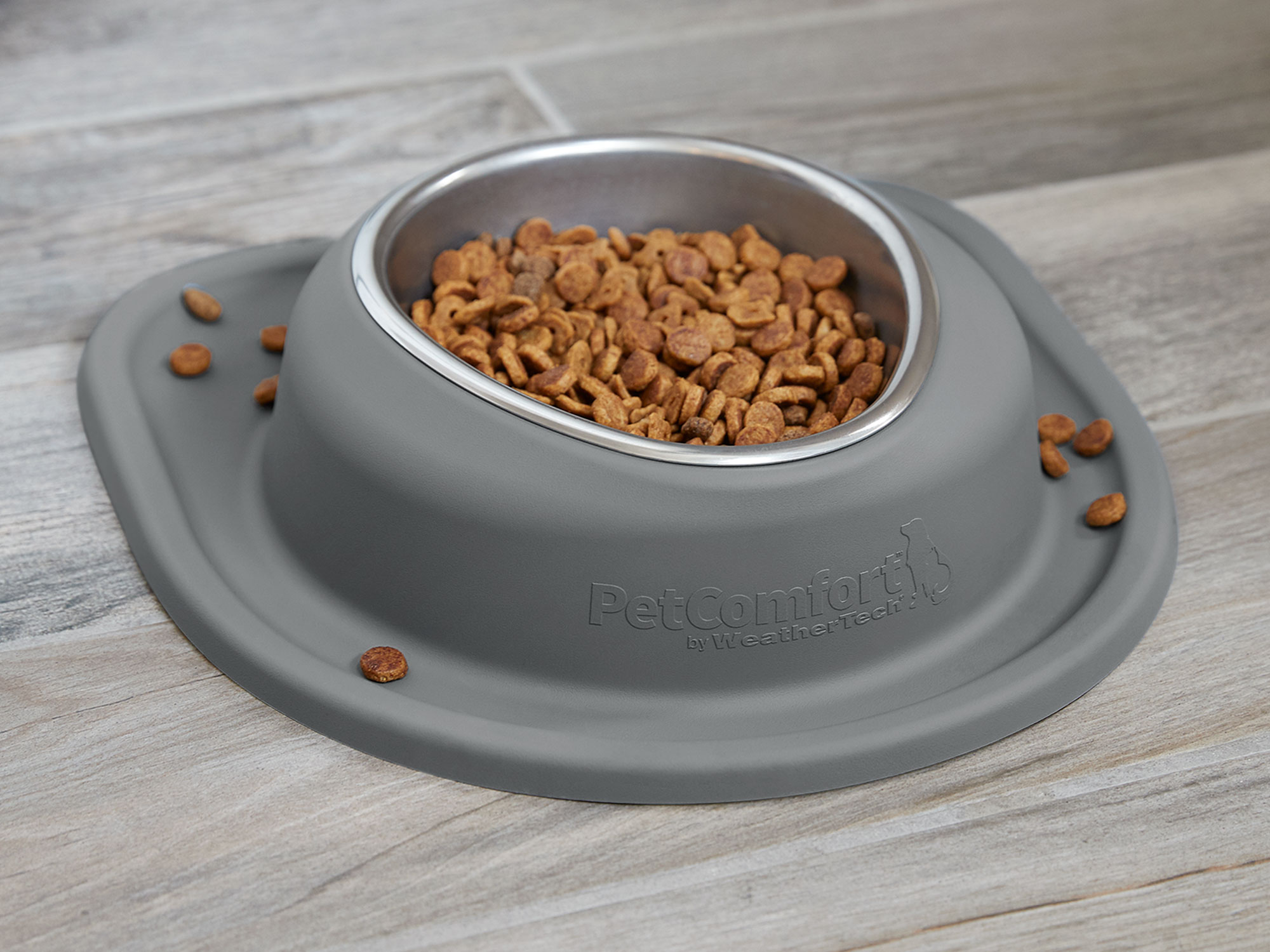 Bring your WeatherTech dog bowl with you outside or on vacation with this portable feeding or watering station.