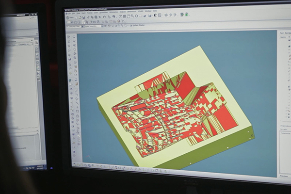 Computer Screen of Part Design program
