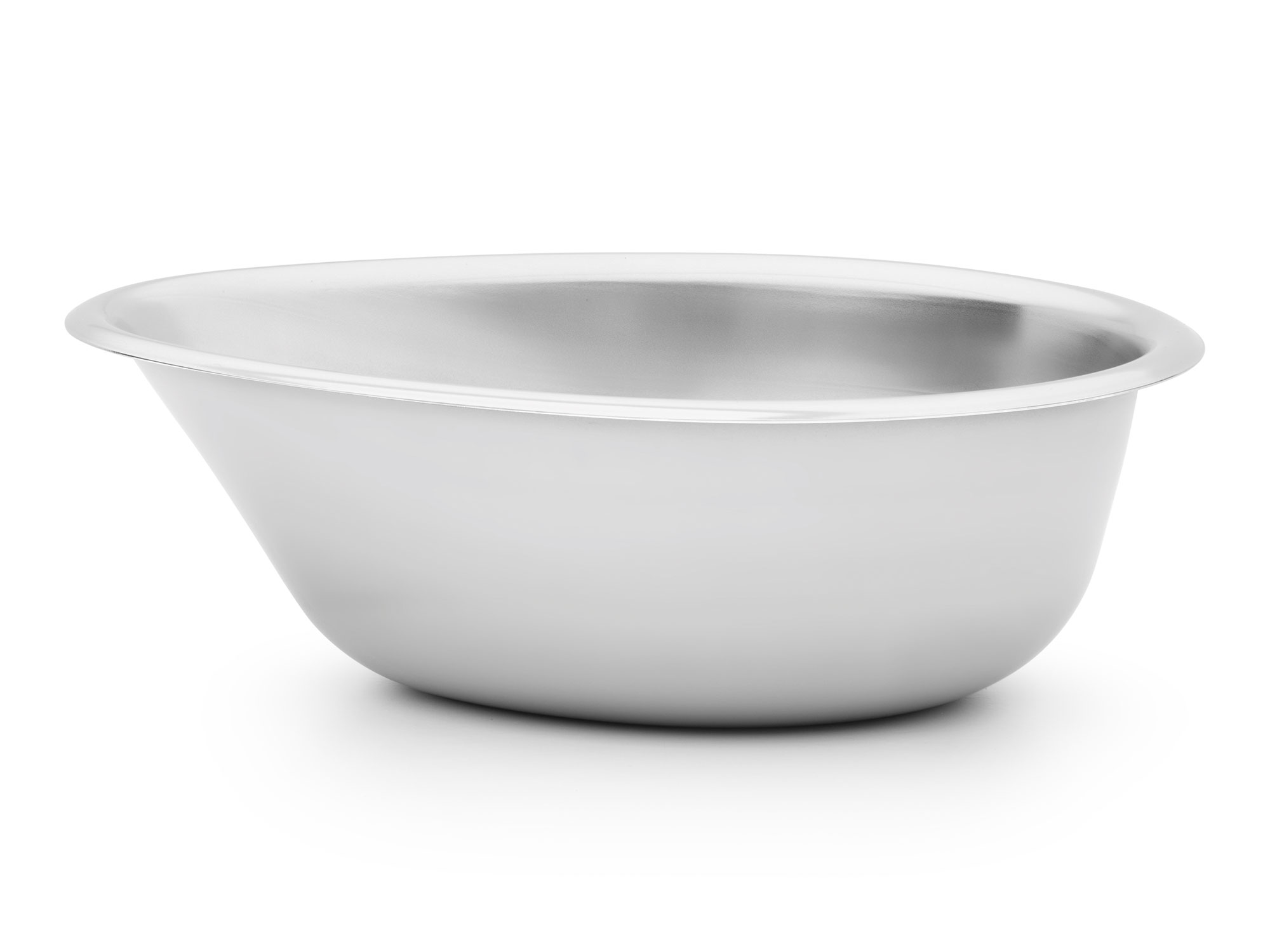 Steel pet bowl design.