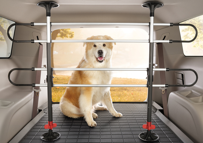 Keep your pet safe in your vehicle with the Pet Barrier