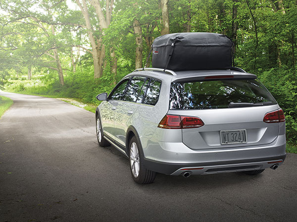 WeatherTech RackSack on a road trip in a campground