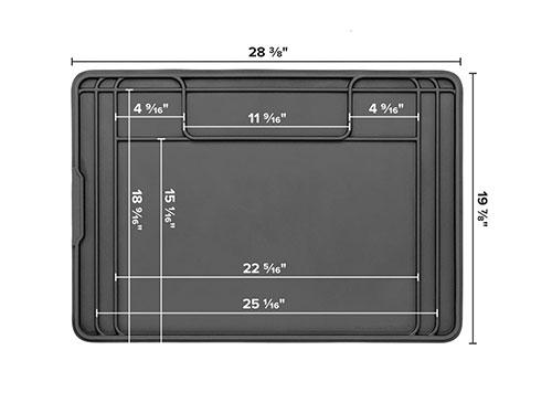 SinkMat - Bathroom Vanity diagram with dimensions.