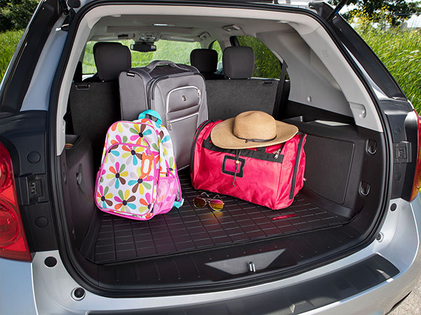 WeatherTech CargoLiner with luggage